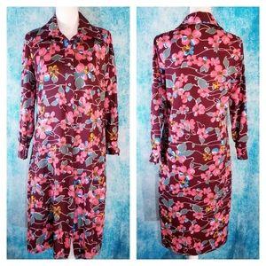 Vintage Sears Long Sleeve Evening Dress Size L